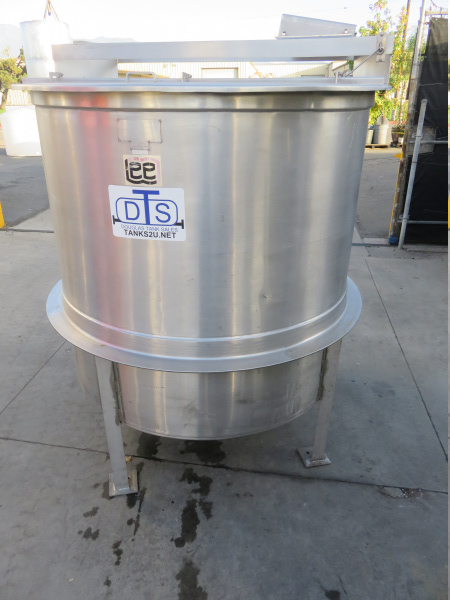 800 gallon stainless steel open top mix tank